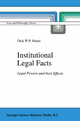 Institutional Legal Facts - Dick W.P. Ruiter