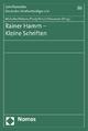 Rainer Hamm - Kleine Schriften - Regina Michalke; Wolfgang Köberer; Jürgen Pauly; Stefan Kirsch; Winfried Hassemer
