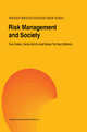 Risk Management and Society - Eve Coles; Denis Smith; Steve Tombs