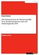 Das Parteiensystem der Bundesrepublik - Neue Koalitionsoptionen nach der Bundestagswahl 2009 - Pascal Rossol