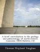 Brief Contribution to the Geology and Paleontology of Northwestern Louisiana - Thomas Wayland Vaughan