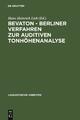 BEVATON - Berliner Verfahren zur auditiven Tonhöhenanalyse - Hans-Heinrich Lieb