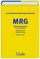 MRG Mietrechtsgesetz - Kommentar mit Rechtsprechung - Friederike Lenk; Thomas Nikodem; Peter Winalek; Christian Weinzinger