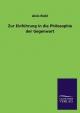 Zur Einführung in die Philosophie der Gegenwart - Alois Riehl