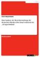 """Eine Analyse der Berichterstattung der deutschen Medien über Israel während der """"Al-Aqsa-Intifada"""" - Sven Nauermann"""