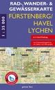 Rad-, Wander- und Gewässerkarte Fürstenberg/Havel, Lychen