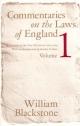 Commentaries on the Laws of England, Volume 1 - Blackstone William Blackstone