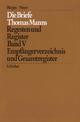 Empfängerverzeichnis und Gesamtregister - Thomas Mann