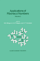 Applications of Fibonacci Numbers - G. E. Bergum; Andreas N. Philippou; Alwyn F. Horadam