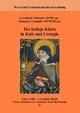Die heilige Klara in Kult und Liturgie - Leonhard Lehmann; Johannes Schneider