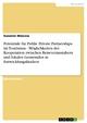 Potentiale für Public Private Partnerships im Tourismus - Möglichkeiten der Kooperation zwischen Reiseveranstaltern und lokalen Gemeinden in Entwicklungsländern - Susanne Mascow