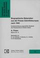 Biographische Materialien aus der Presse Ostmitteleuropas nach 1945. Kurzbeschreibung ausgewählter Bestände des Pressearchivs im Herder-Institut A. Polen, Band 3: M-R