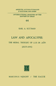 Law and Apocalypse: The Moral Thought of Luis De Leon (1527?-1591) - Karl A. Kottman