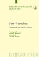 Text - Verstehen - Breindl;  Hardarik Blühdorn;  Eva Breindl;  Eva/ Blühdorn;  Ulrich Hermann Waßner;  Hardarik/ Waßner;  Ulrich H.