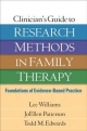 Clinician''s Guide to Research Methods in Family Therapy