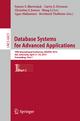 Database Systems for Advanced Applications - Sourav S. Bhowmick; Curtis Dyreson; Christian S. Jensen; Mong Li Lee; Agus Muliantara; Bernhard Thalheim