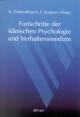 Fortschritte der Klinischen Psychologie und Verhaltensmedizin - R. Dohrenbusch;  F. Kaspers (Hrsg.)