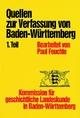 Quellen/ Verfassung Ba.-Württ. Tl.1 VV 2