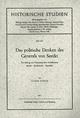 Das politische Denken des Generals von Seeckt - Claus Guske