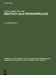 Deutsch als Fremdsprache. 1. Halbband - Gerhard Helbig;  Lutz Götze;  Gert Henrici;  Hans-Jürgen Krumm