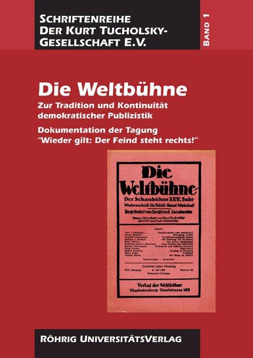 Cover Die Weltbühne