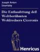 Die Enthaubttung deß Weltberühmten Wohlredners Ciceronis - Joseph Anton Stranitzky