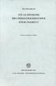 Die Gliederung des indogermanischen Sprachgebiets - Walter Porzig