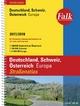 Falk Straßenatlas Deutschland, Schweiz, Österreich, Europa 2016/2017 1 : 300 000