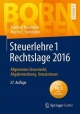Steuerlehre 1 Rechtslage 2016
