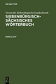 Siebenbürgisch-Sächsisches Wörterbuch / D–F