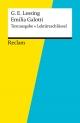 Textausgabe + Lektüreschlüssel. Gotthold Ephraim Lessing: Emilia Galotti - Theodor Pelster;  Gotthold Ephraim Lessing