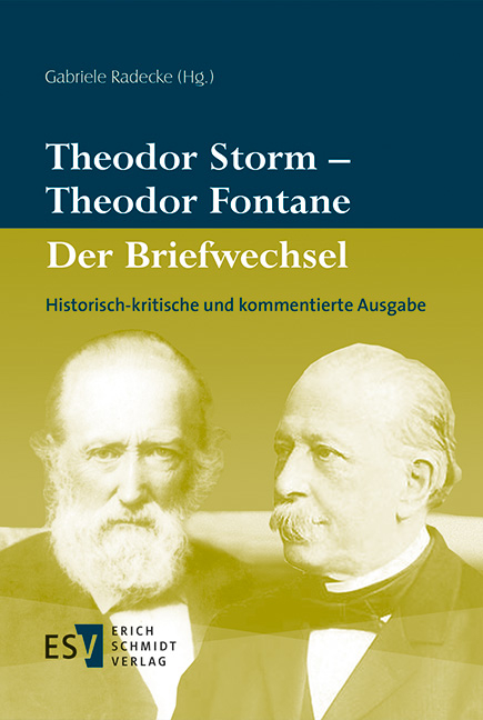 theodor storm theodor fontane der briefwechsel - Theodor Storm Lebenslauf