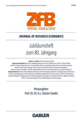 Jubiläumsheft zum 80. Jahrgang - Günter Fandel