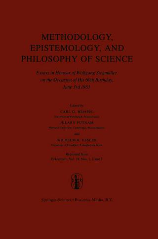 Methodology, Epistemology, and Philosophy of Science - Carl G. Hempel; H. Putnam; Wilhelm K. Essler