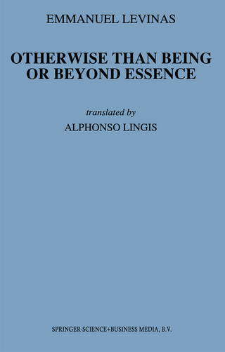 Otherwise Than Being or Beyond Essence - E. Levinas