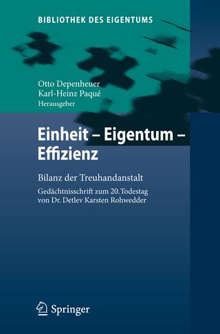 Einheit - Eigentum - Effizienz - Otto Depenheuer; Karl-Heinz Paqué