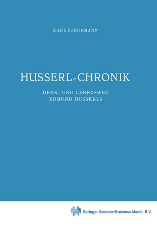 Husserl-Chronik - Karl Schuhmann