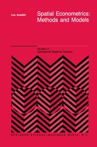 Spatial Econometrics: Methods and Models - L. Anselin