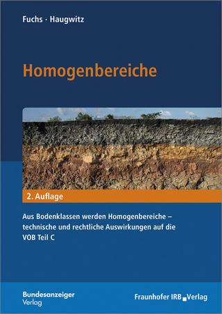Homogenbereiche. - Bastian Fuchs; Hans-Gerd Haugwitz