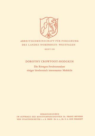 Die Röntgen-Strukturanalyse einiger biochemisch interessanter Moleküle - Dorothy Hodgkin