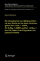 Die Vereinbarkeit von Militärgerichten mit dem Recht auf ein faires Verfahren gemäß Art. 6 Abs. 1 EMRK, Art. 8 Abs. 1 AMRK und Art. 14 Abs. 1 des UN-Paktes über bürgerliche und politische Rechte - Jeanine Bucherer
