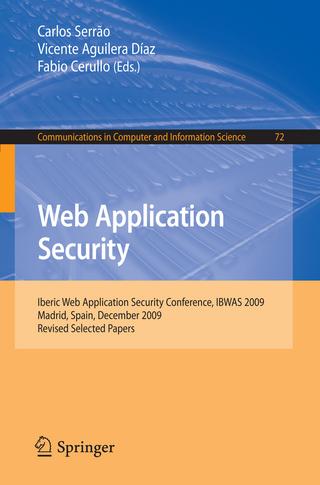 Web Application Security - Carlos Serrao; Vicente Aguilera; Fabio Cerullo