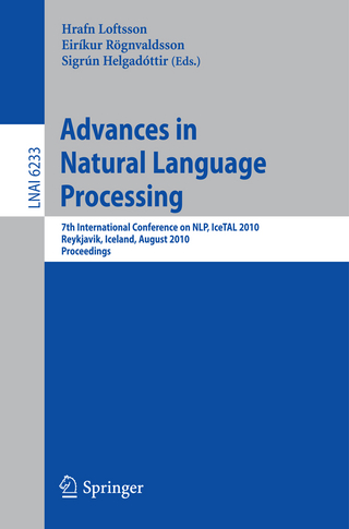 Advances in Natural Language Processing - Hrafn Loftsson; Eirikur Rögnvaldsson; Sigrun Helgadottir