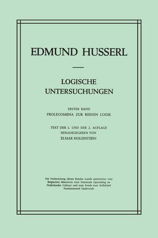 Logische Untersuchungen - Edmund Husserl; E. Holenstein