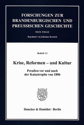 Krise, Reformen ? und Kultur. - Bärbel Holtz