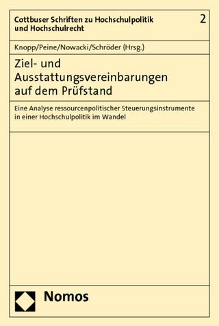 Ziel- und Ausstattungsvereinbarungen auf dem Prüfstand - Lothar Knopp; Franz-Joseph Peine; Konrad Nowacki; Wolfgang Schröder