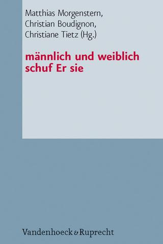 männlich und weiblich schuf Er sie - Matthias Morgenstern; Christian Boudignon; Christiane Tietz