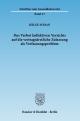 Das Verbot kollektiven Verzichts auf die vertragsärztliche Zulassung als Verfassungsproblem. - Helge Sodan