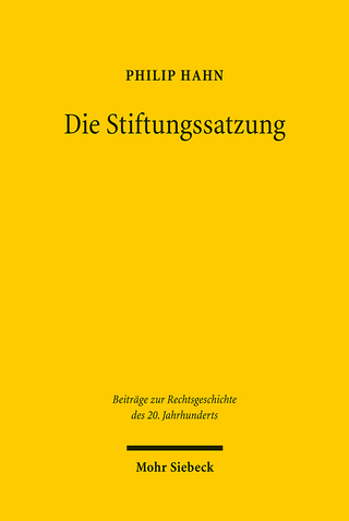 Die Stiftungssatzung - Philip Hahn