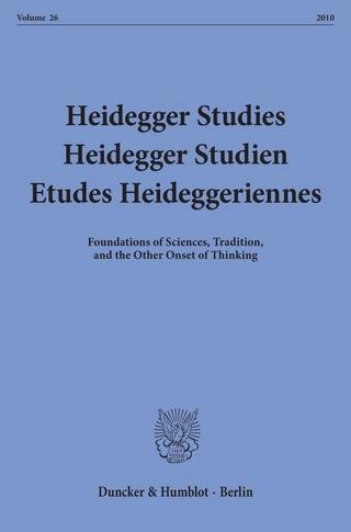 Heidegger Studies - Heidegger Studien - Etudes Heideggeriennes. - Parvis Emad; Paola-Ludovika Coriando; Frank Schalow; Ingeborg Schüßler; Pascal David; Friedrich-Wilhelm von Herrmann